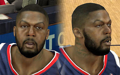 NBA 2K13 Ivan Johnson Cyberface Patch