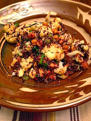 Roasted Cauliflower, Chickpea, and Quinoa Salad by Future Relics Gallery