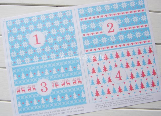 adventskalender knutselen, aftellen naar kerst, advent diy, advent zelf maken, adventskalender zelf maken, adventskalender diy