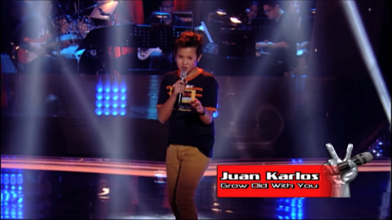 watch the voice kids ph juan karlos sings grow old with you