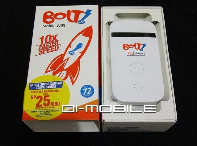 Modem Mifi Bolt 4G ZTE MF90 Free Perdana Bolt 8GB
