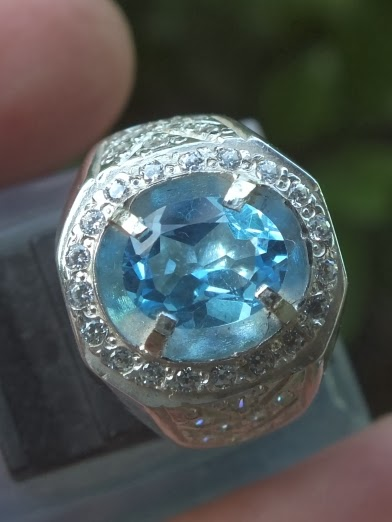 natural swiss blue topaz