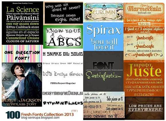 100 Fresh Fonts Collection 2013