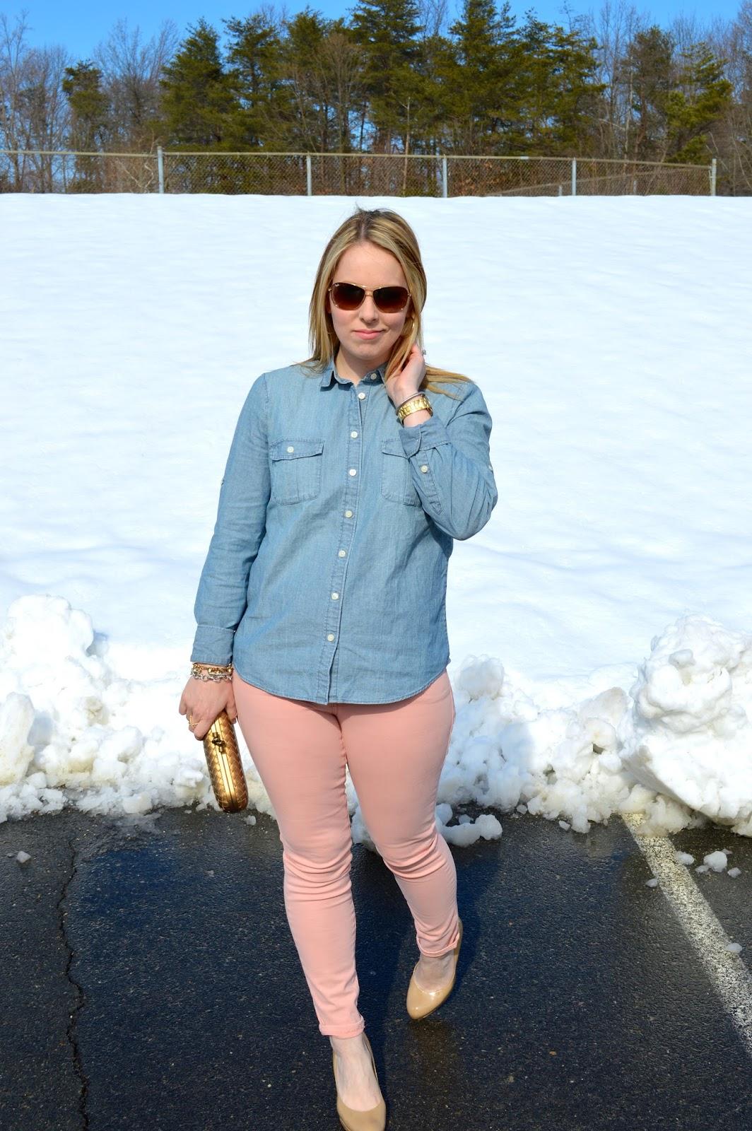 pink-jeans-chambray-shirt