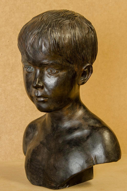 Retrato escultura barro cocido 1