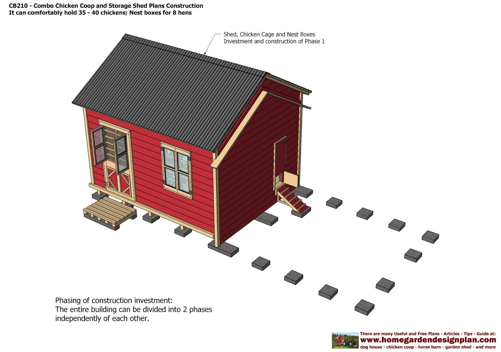 - Combo Plans - Chicken Coop Plans Construction + Garden Sheds Plans