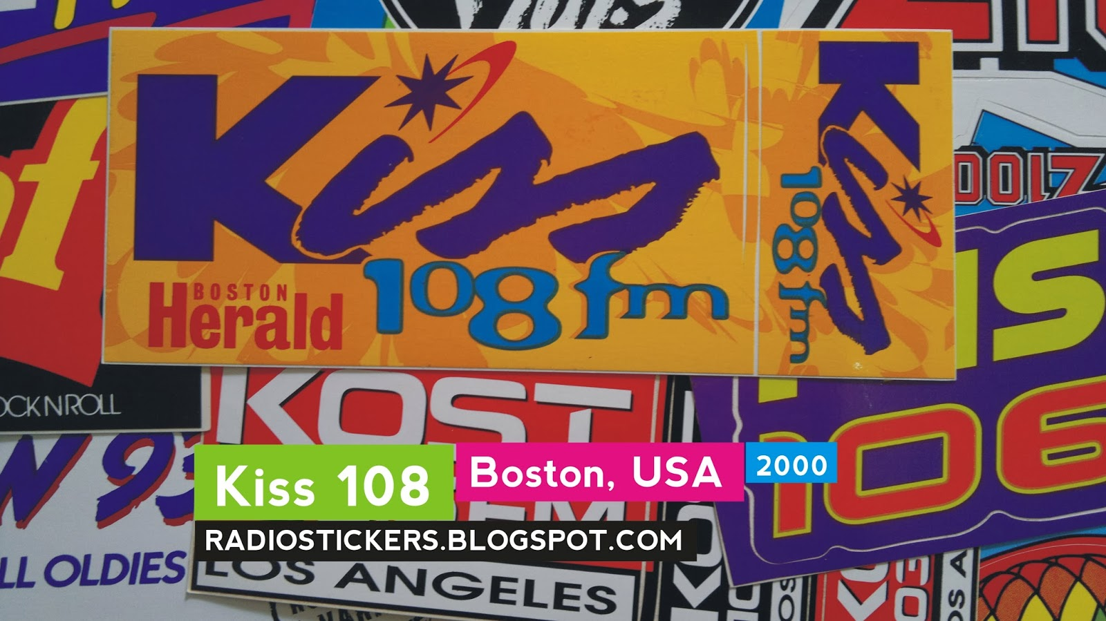 Radio Station Stickers And More Kiss 108 Boston 1980s 2006