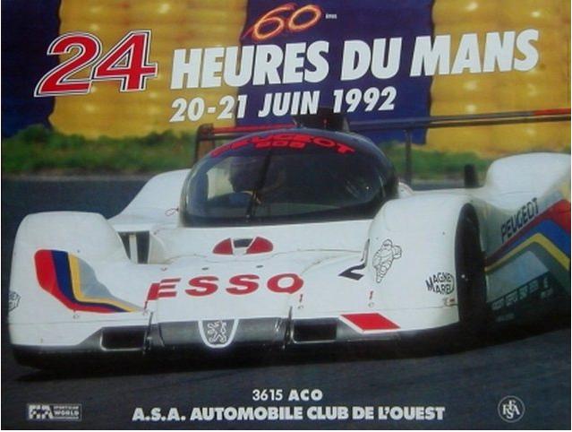 Affiche officielle des 24 Heures du Mans 1992