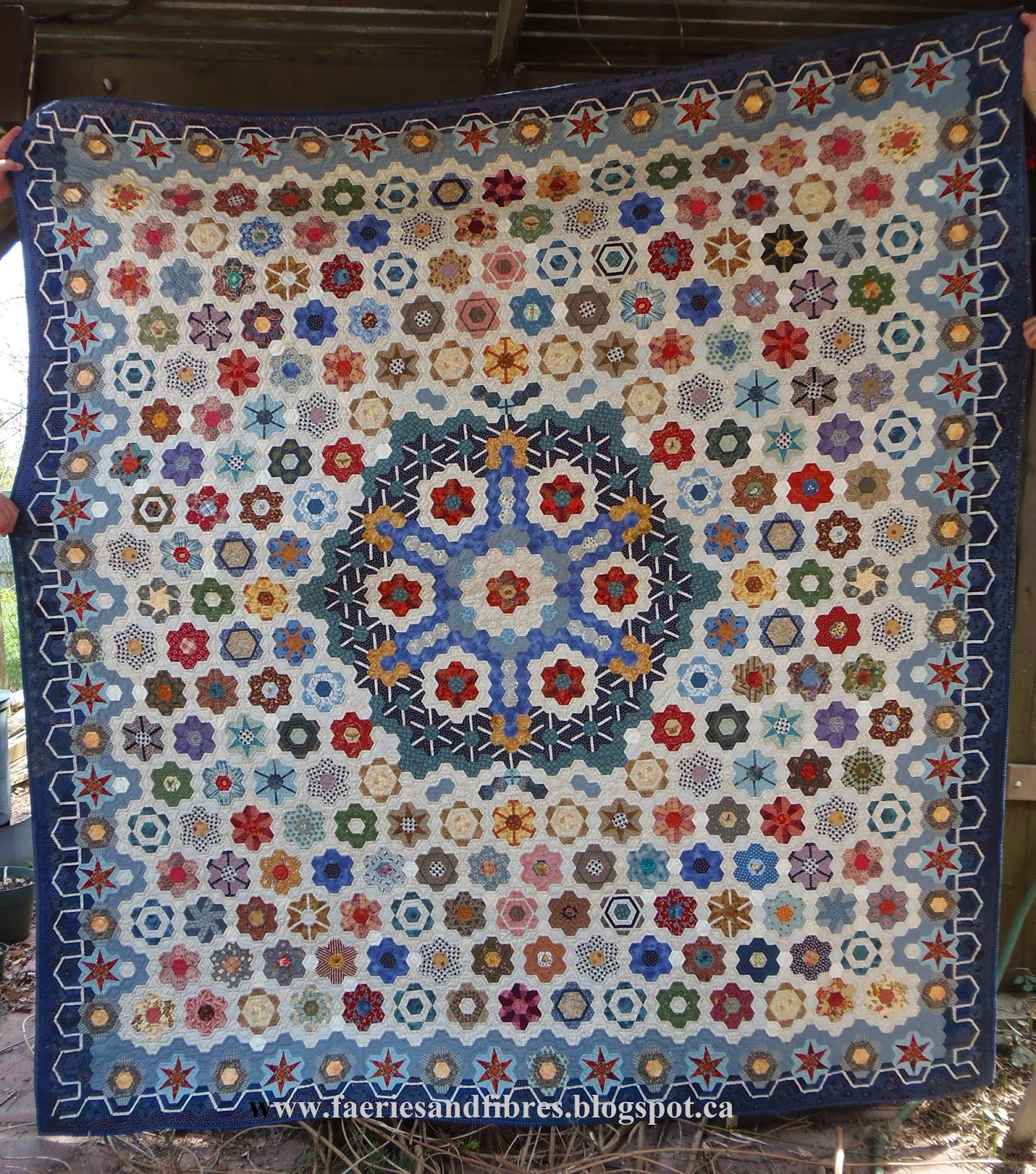 Faeries and Fibres: TUTORIAL: Fun with half and half hexagons : half hexagon quilt - Adamdwight.com