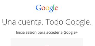 iniciar sesion en Google +
