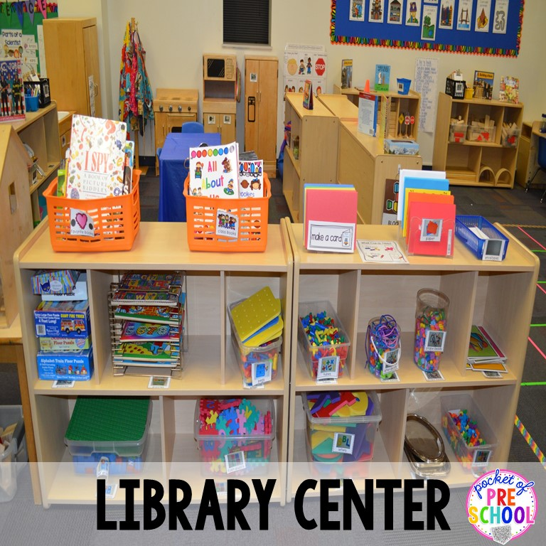 Classroom Library Ideas Kindergarten ~ Classroom reveal and a freebie pocket of preschool