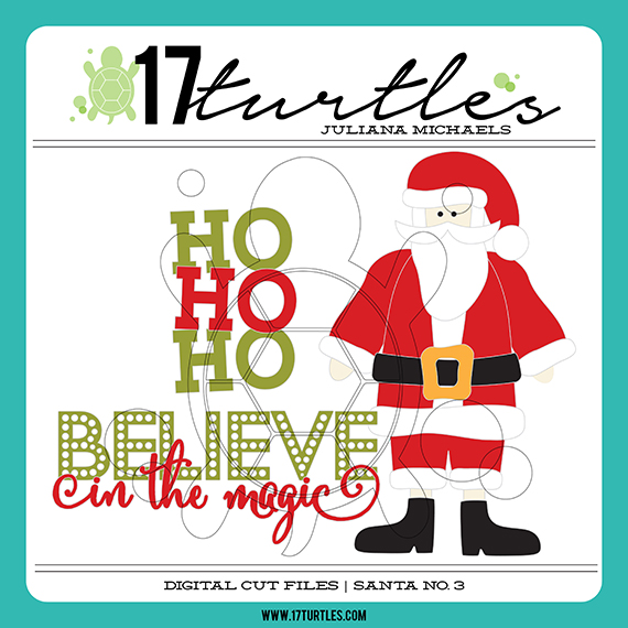 Santa No. 3 17turtles Digital Cut File