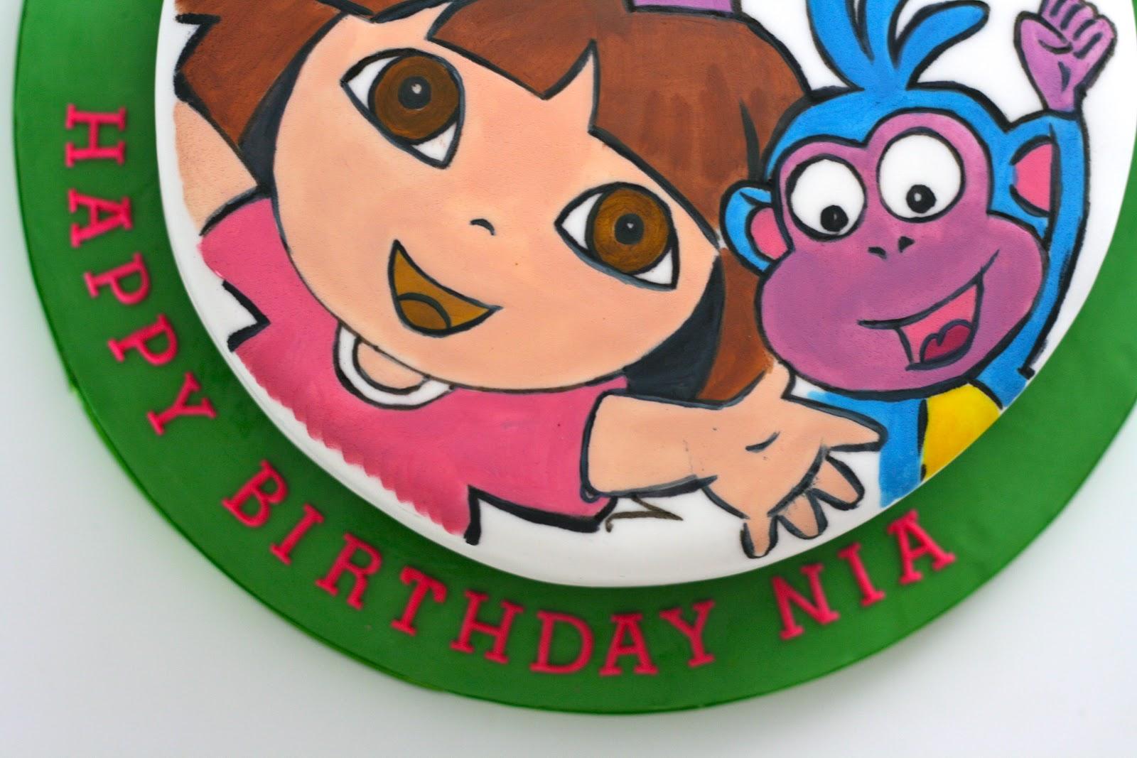 Milli\'s kitchen: Dora the Explorer cake