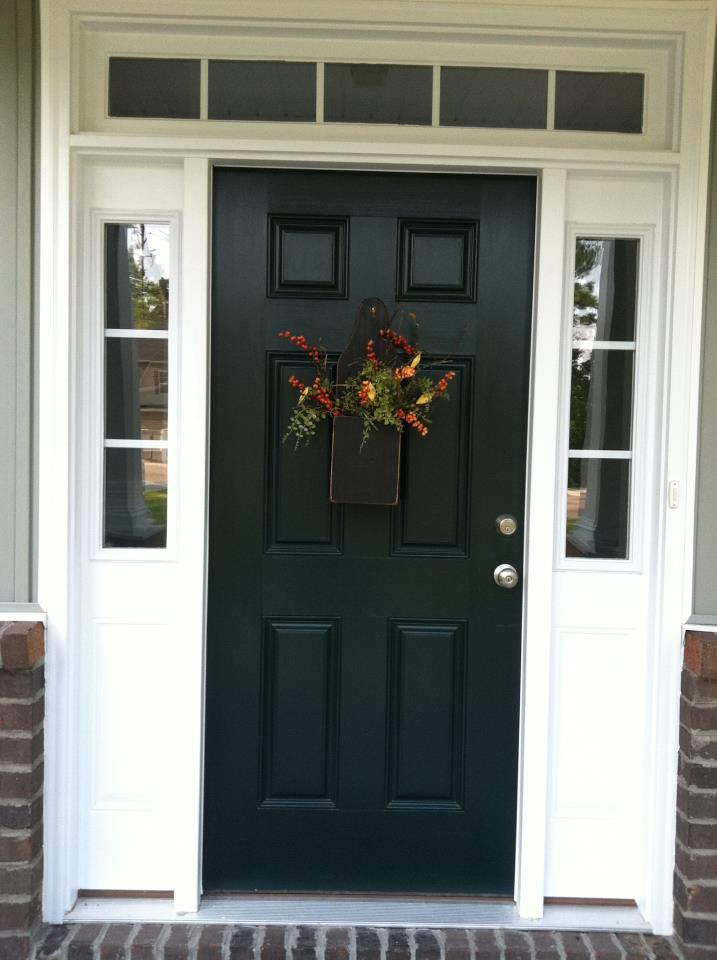 Front Door Painted Black Lowe S Valspar Duramax Dark