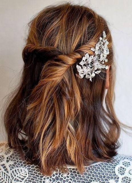 penteado de festa curto