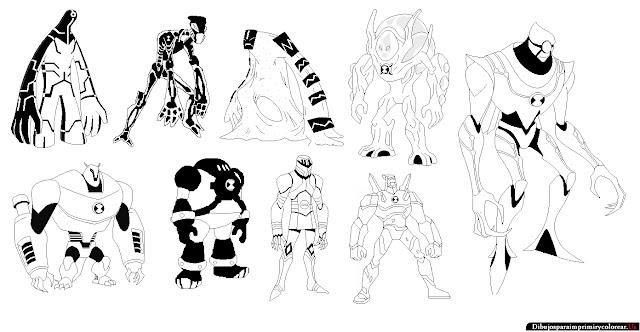 Dibujos Para Colorear De Ben 10 Omniverse Juegos de Ben 10 para ...