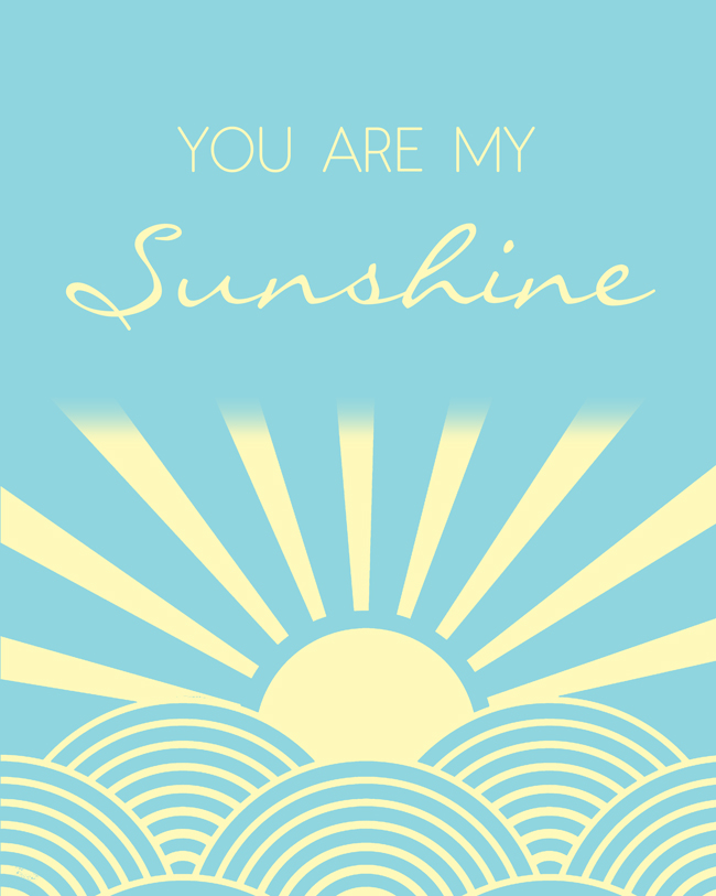 picture relating to You Are My Sunshine Free Printable named Your self are my Solar (No cost Printable) - Take pleasure in and Laundry