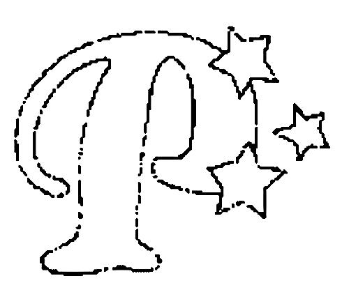Desenhos Para Colori letras do alfabeto letra P desenhar