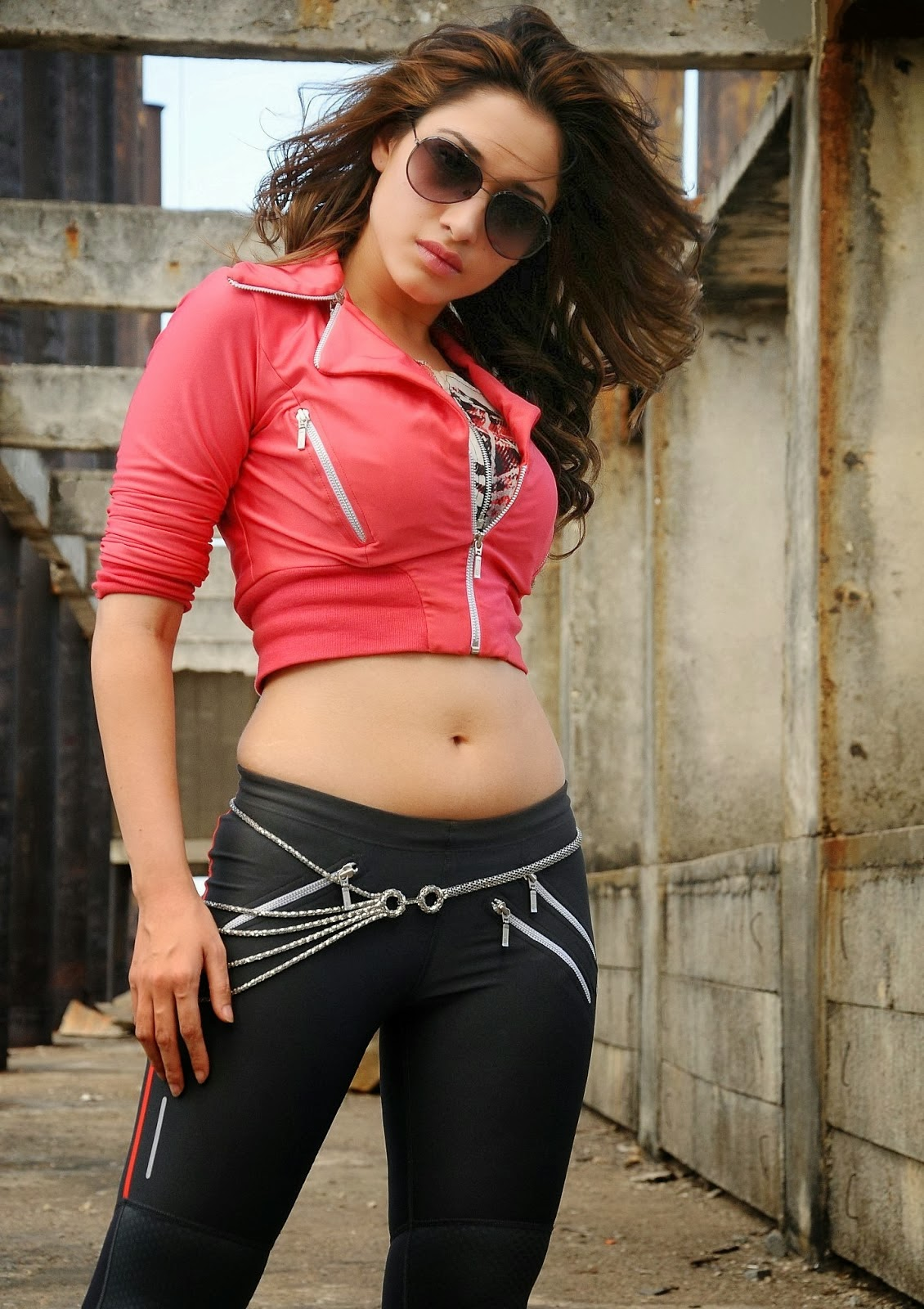Milky beautiful Tamanna latest hot photos in rebel telugu movie