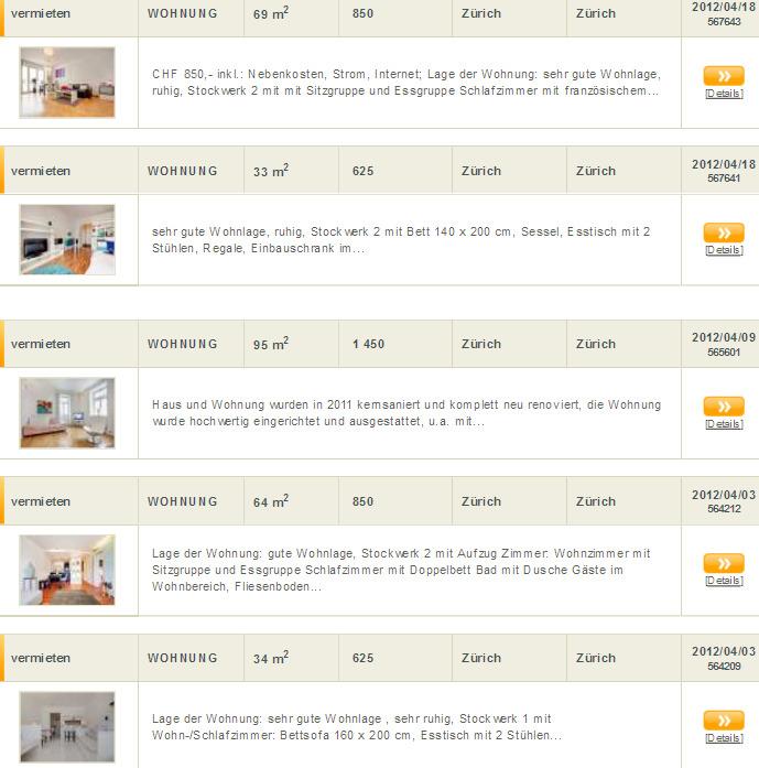 Betrugsangebote auf zurich.efmc.ch / Vorkassebetrug fraud scam | *Gegen Wohnungsbetrug *against ...