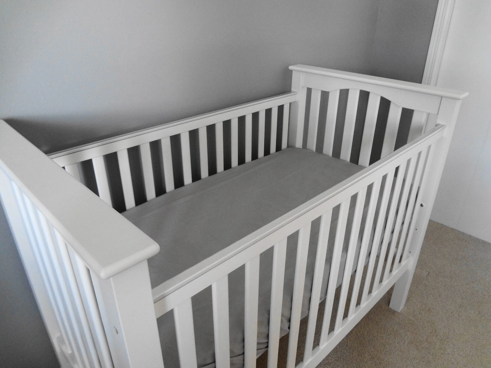Crib heights for babies - She Is Simple White Sturdy And The Perfect Height Here S A Trifecta Of Angles How Bad Am I Going To Be When There S A Baby In There If I Can T Stop