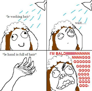 rage comics washing hair hand full of hair i am balding, fffffuuuuu, ffffuuuu, fffuuu, rage comics, washing hair rage
