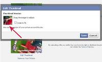 Cara mengubah posisi avatar / foto profil facebook
