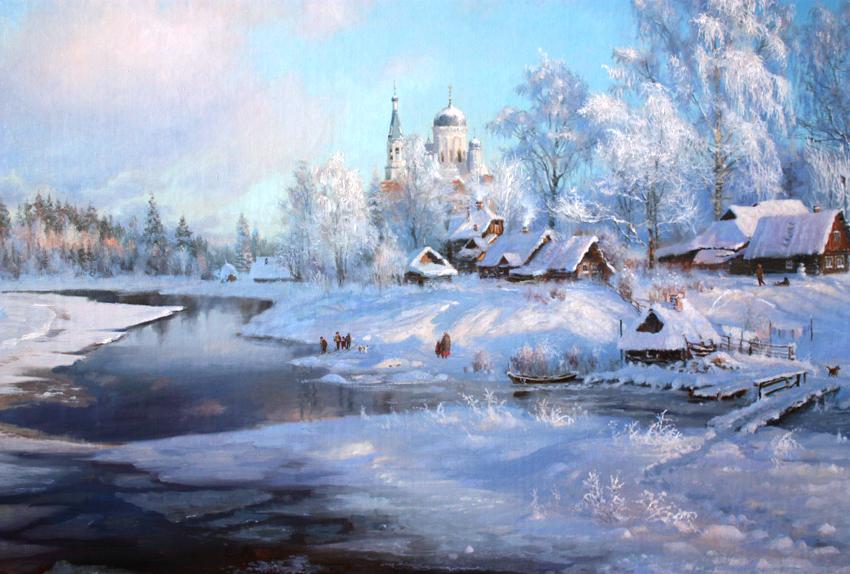 Зима в творчестве художника Владимира ...: bibliokompas.blogspot.com/2012/02/blog-post.html
