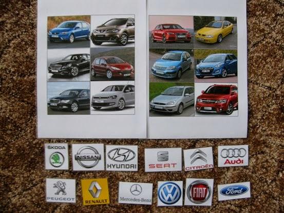 značky aut k přiřazování