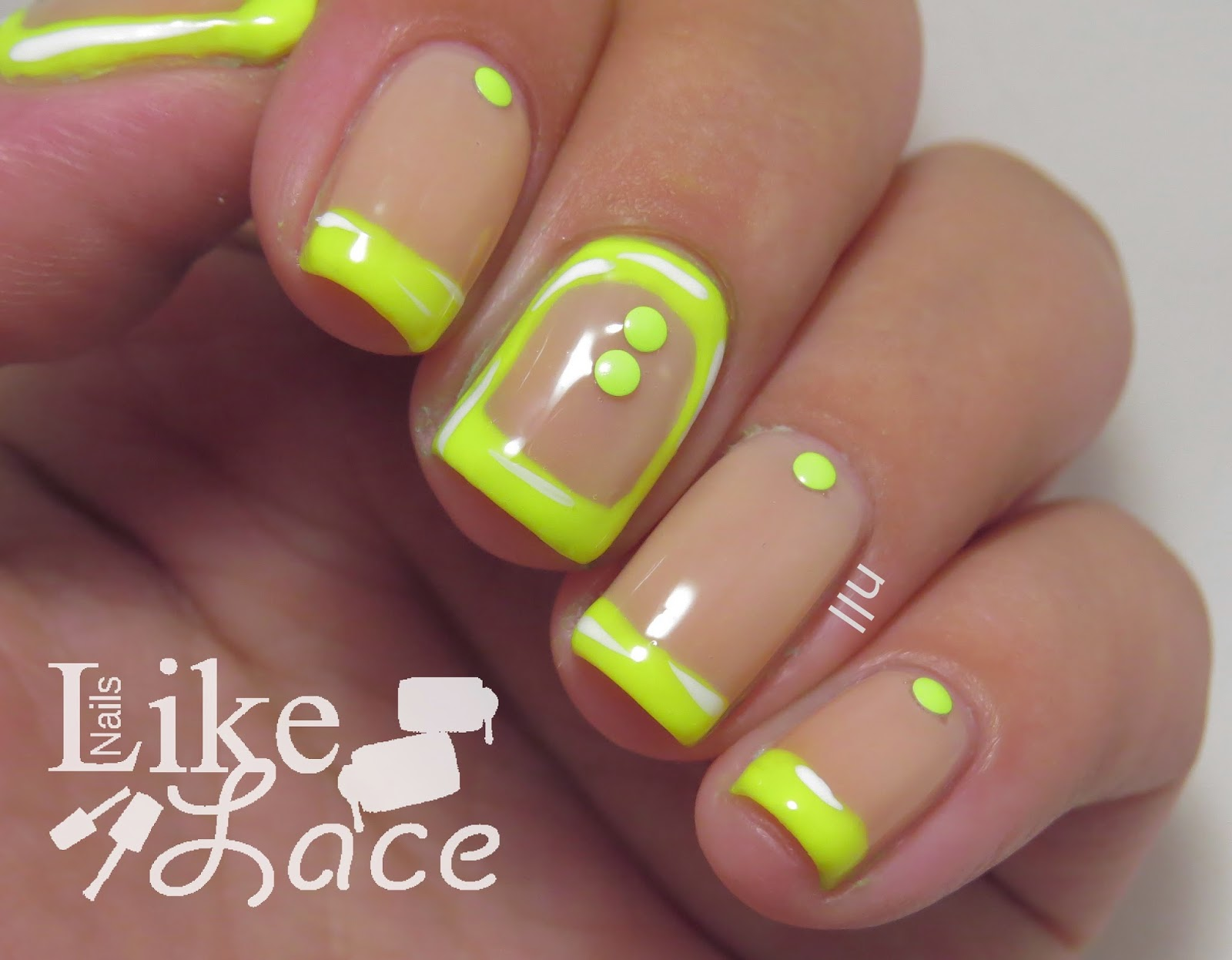 NailsLikeLace: Neon & Nude Nails - Tips and Borders