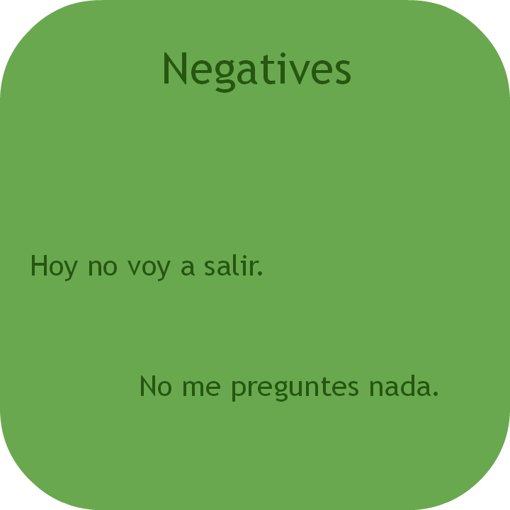 Learn easy Spanish negatives. Visit www.soeasyspanish.com