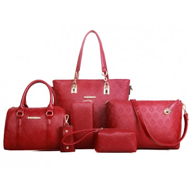 AA FASHION BAG (6 IN 1 SET) - RED