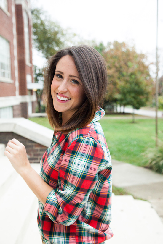 Here&Now: J.Crew Factory plaid popover top