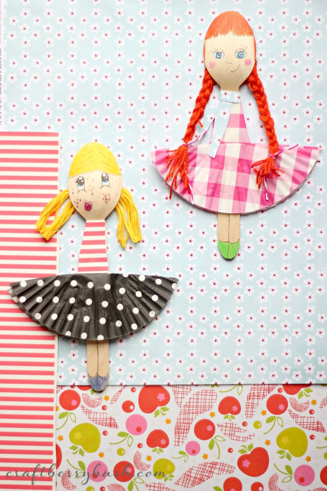 fashion wooden spoon dolls by craftberry bush. Black Bedroom Furniture Sets. Home Design Ideas