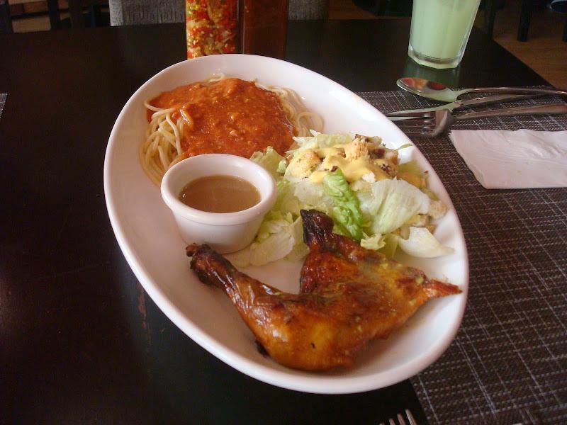 salad and pasta platter at Peri-Peri at Central City Walk Bacolod