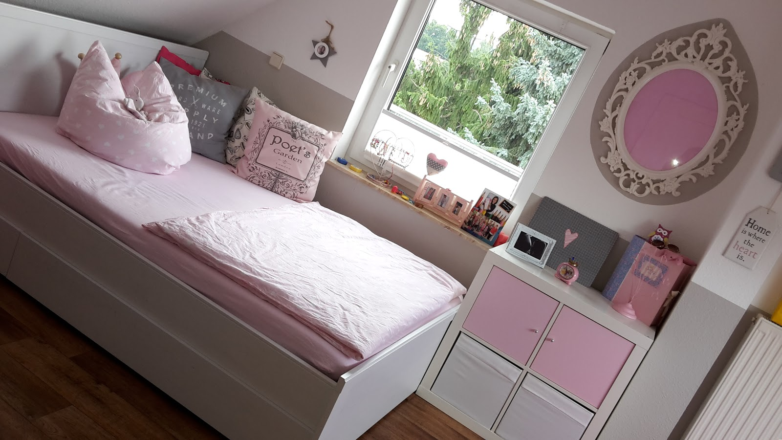 lilexxleli rosa graues m dchenzimmer. Black Bedroom Furniture Sets. Home Design Ideas