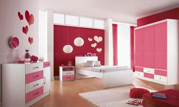 Quartos Pink para adolescentes (Especialmente para a filha  ~ Quarto Rosa Juvenil