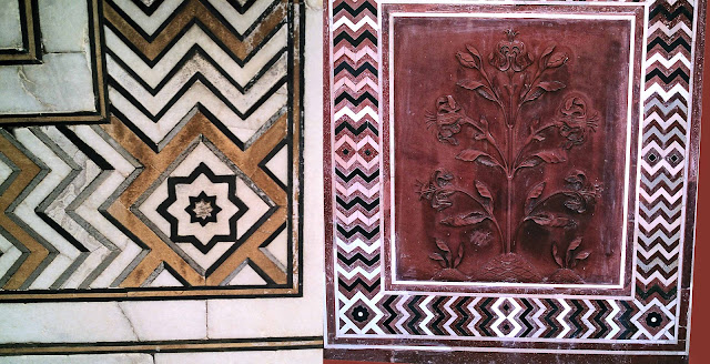 close-ups of taj patterns