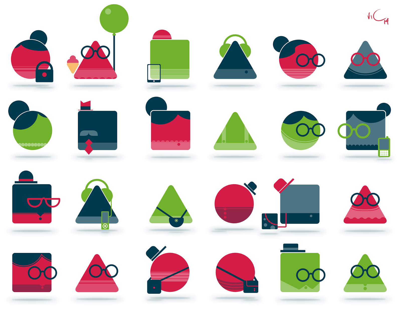 Character Design Basic Shapes : Howie simple character designs