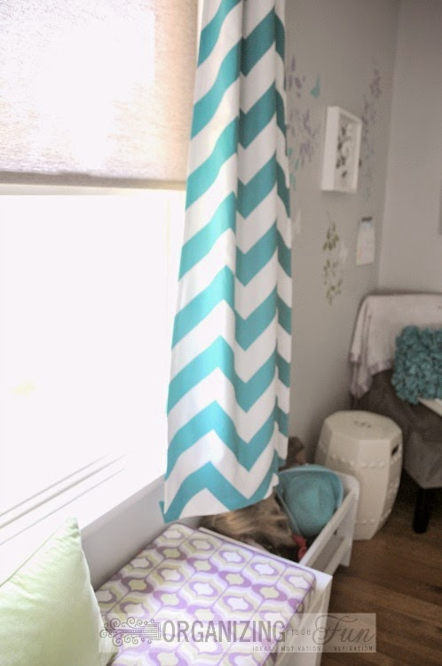 Chevron Striped Curtains :: OrganizingMadeFun.com