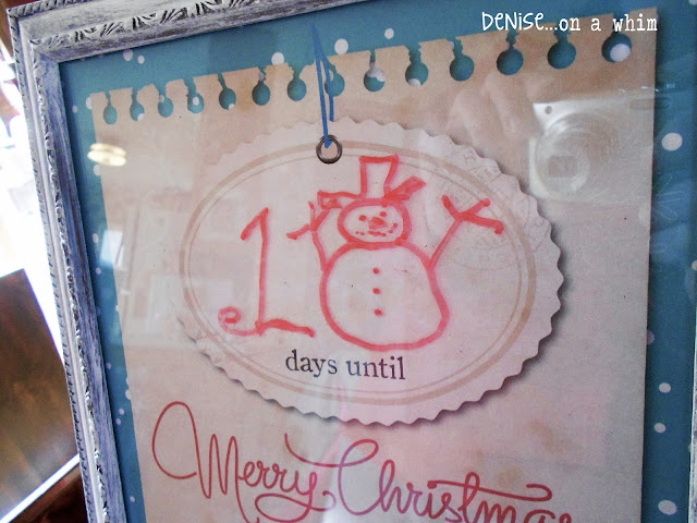 Dry erase dollar store countdown frame via http://deniseonawhim.blogspot.com