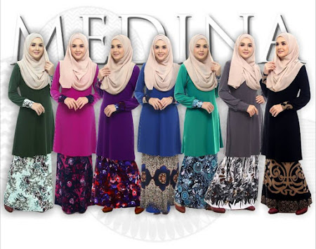 Terbaru & Menawan Kurung Modern Medina 3 Ready Stock. Shop now!