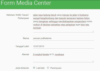 Media Center Surabaya Sarana Penampung Keluhan Warga