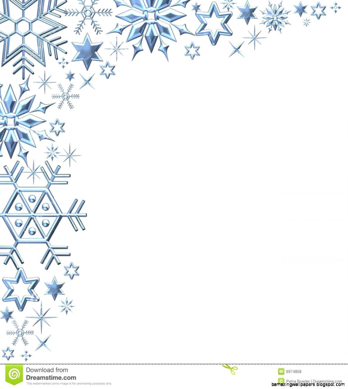 Free Snowflake Border Clipart  School Clip Art