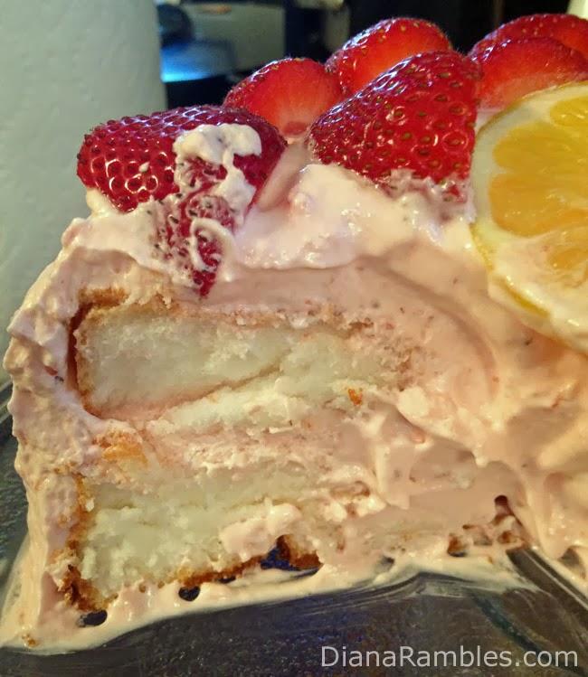Lemon Ice Cream & Strawberry Cream Cake - Diana Rambles
