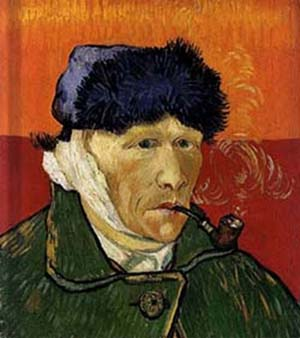 Plundered art van gogh 39 s 1889 depiction of his mutilated self smoking a pipe pr 144 - Van gogh autoportrait oreille coupee ...