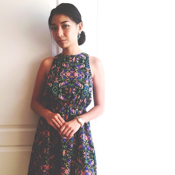 Stephanie Liu of Honey & Silk wearing Everly Dress | Instagram Mondays