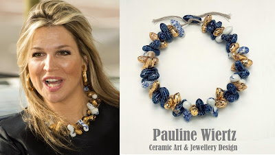 The necklace is from Pauline Wiertz, Dutch designer - Ceramic Art & Jewellery Design