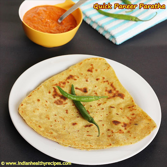 paneer paratha recipe