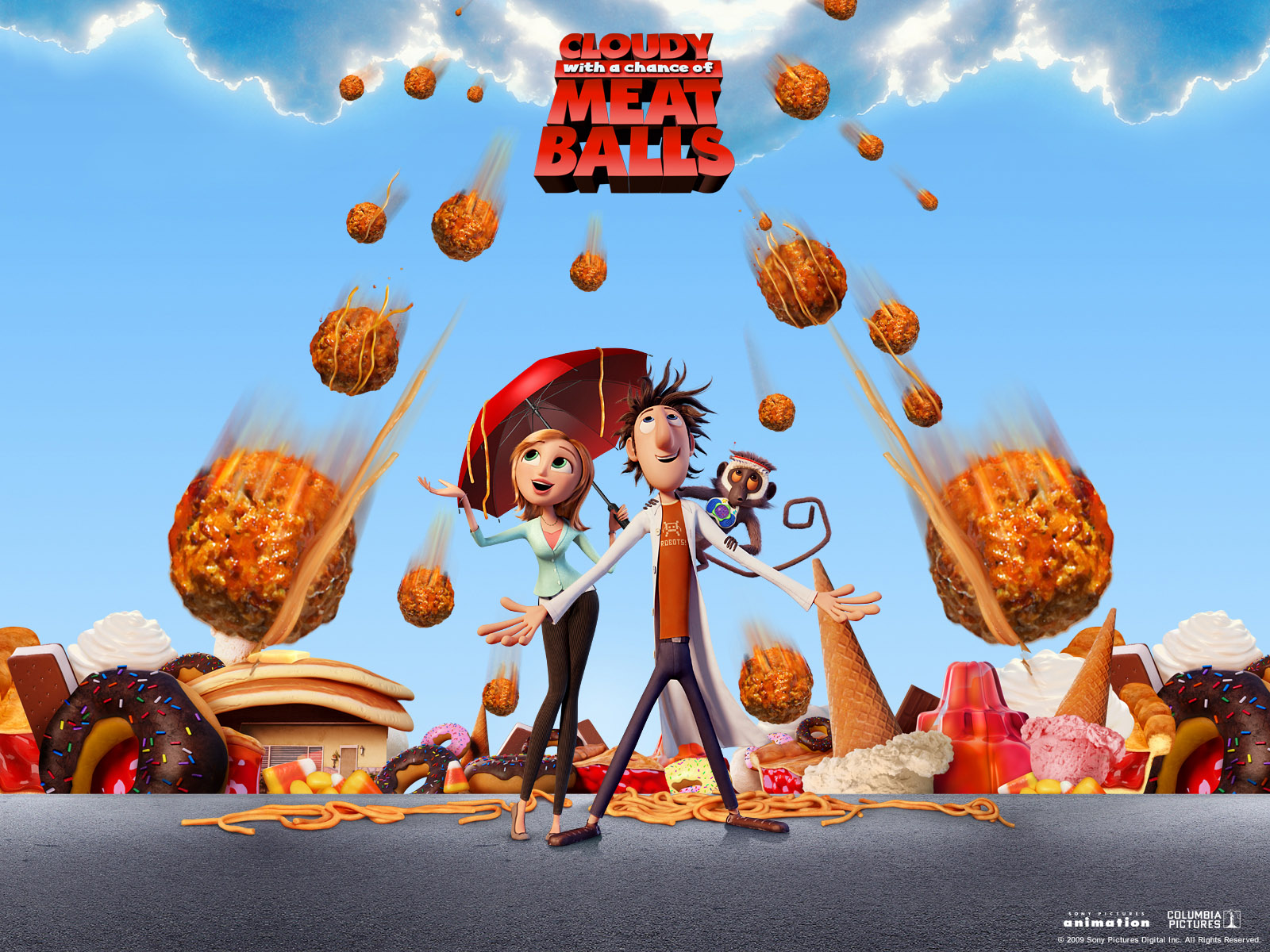 3d cartoon wallpaper from cloudy with a chance of meat balls